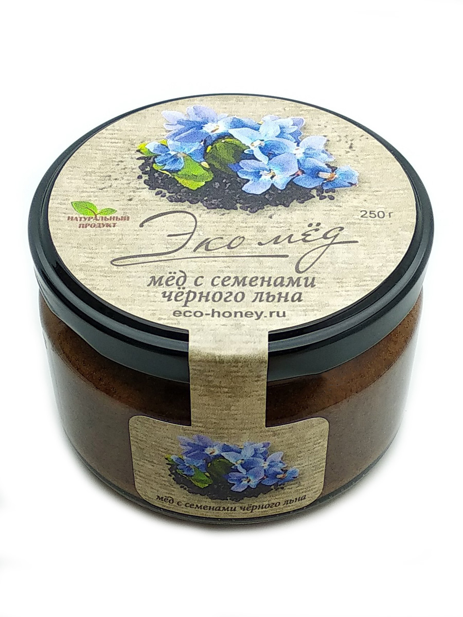 Мёд с семенами чёрного льна